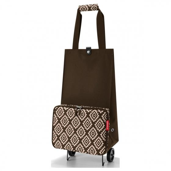shopping foldabletrolley / Einkaufstrolley faltbar 66 cm diamonds mocha