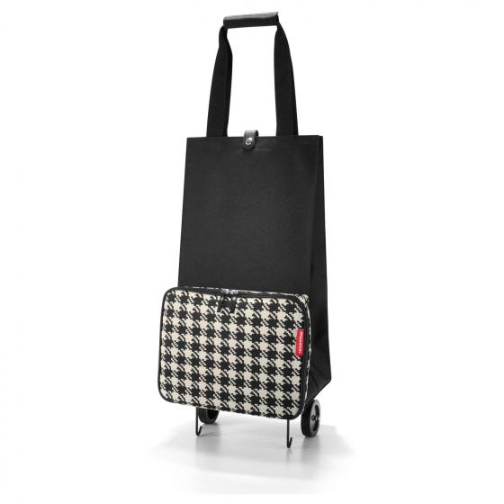 shopping foldabletrolley / Einkaufstrolley faltbar 66 cm fifties black