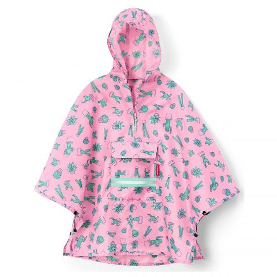 kids collection mini maxi poncho / Kinder-Regencape 93 cm cactus pink