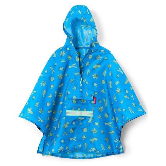 kids collection mini maxi poncho / Kinder-Regencape 93 cm cactus blue