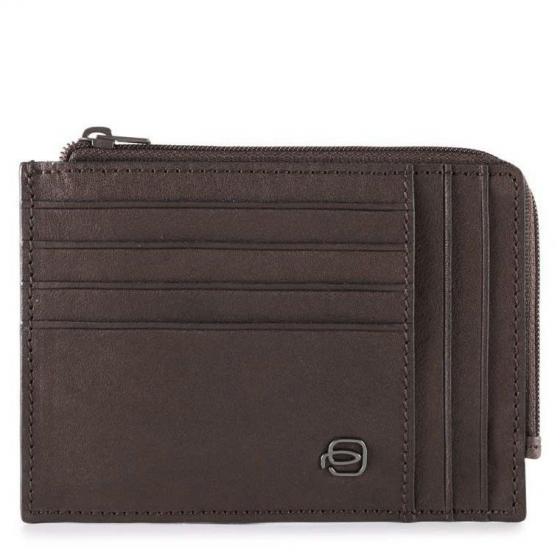 Black Square Geldbörse 12,5 cm dark brown