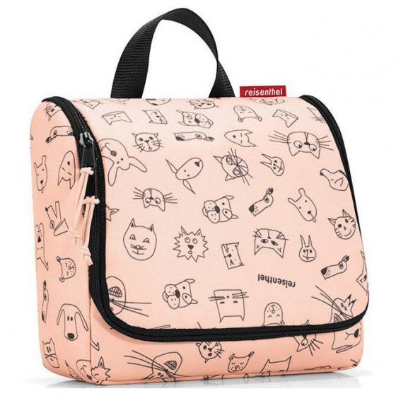 cosmetics toiletbag / Kulturbeutel cats an dogs rose