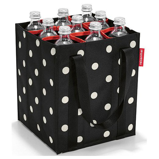 shopping bottlebag / Flaschen Tragetasche mixed dots