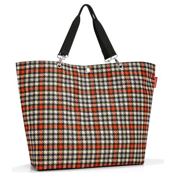 shopping shopper XL / großer Shopper 65 cm glencheck red