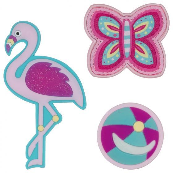 Alpha Schulranzen Set 4tlg. mit Funny Snaps Flamingo