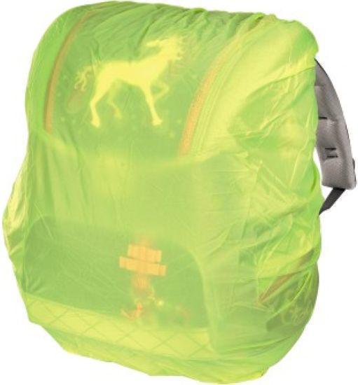 Regen-/Sicherheitshülle für Schulranzen neongelb