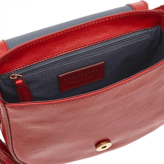 Pearldistrict Schultertasche Leder 20 cm red