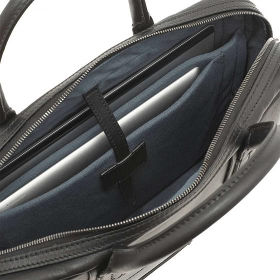 Williamsburg Aktentasche Leder 37 cm black