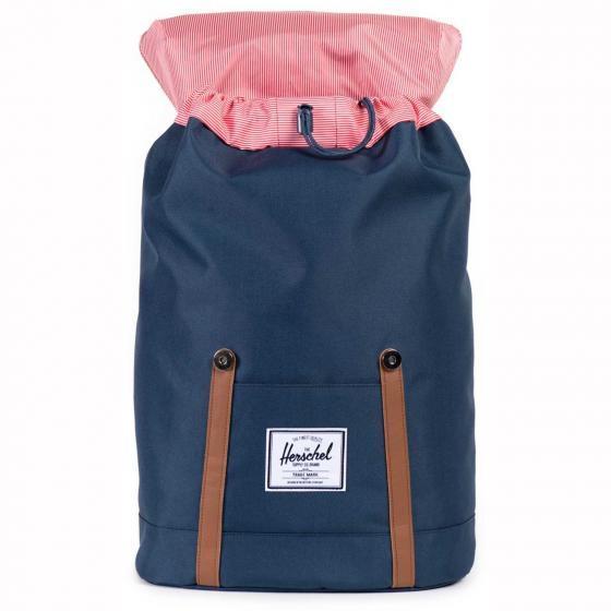 Retreat Backpack 43 cm navy/tan synthetic leather