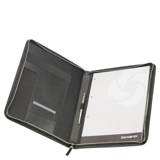 Stationery Leather Zip Folder A4 45 cm black