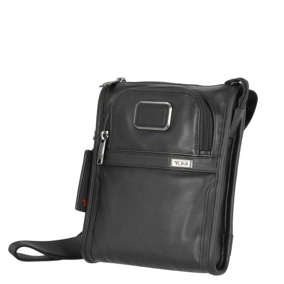 Alpha3 Pocket Bag S Leder Schultertasche 24 cm black