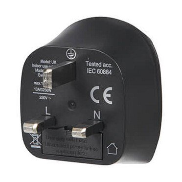 Electronic Europe To UK Grounded / Reiseadapter black