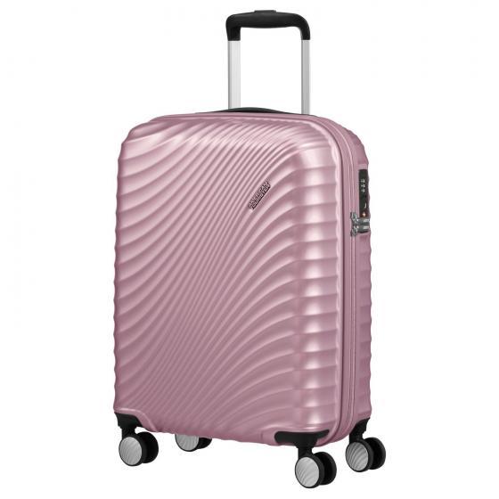 Jetglam 4-Rollen-Kabinentrolley S 55/20 cm metallic pink