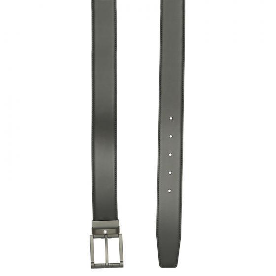 Men Casual anpassbarer Ledergürtel mit Dornschließe matt 120 cm 120 | black