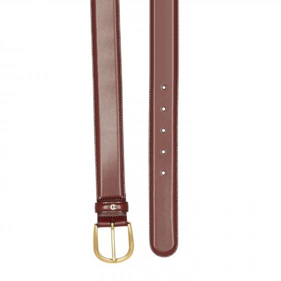 Uni Daily Basis Ledergürtel mit Goldverschluß 3,5 cm 90 | antic rot