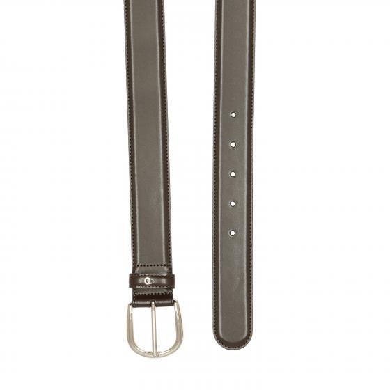 Daily Basis Ledergürtel mit Silberverschluß 3,5 cm ebony 90