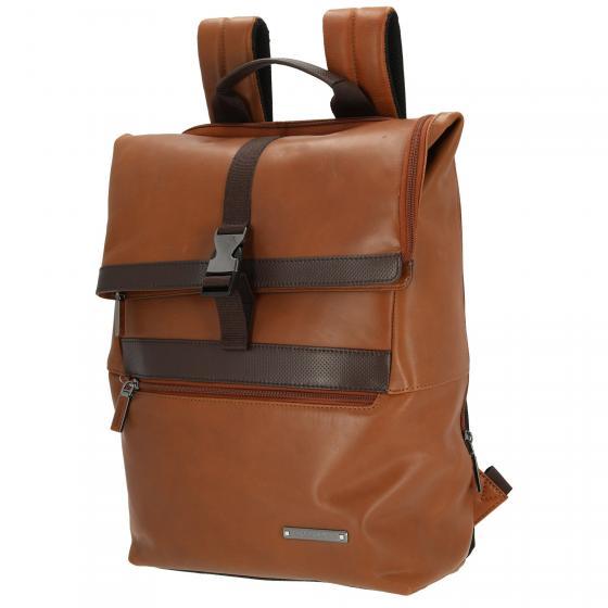 Asterism LTH Laptop-Rucksack15.6 Flap Slim 40 cm cognac