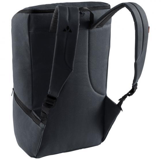 Aspe waxed Laptop-Rucksack 47 cm phantom black