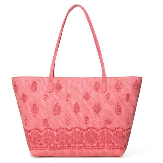 Bols Paola Capri Zipper Shopper 47 cm rosa plateado