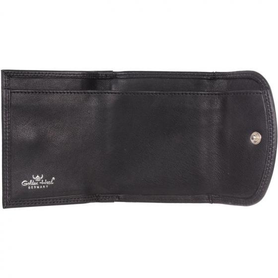 Polo Bügelbörse 8 cm schwarz