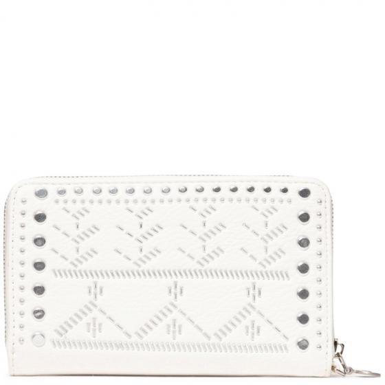 Mone Azabache Mini Zip Geldbörse 15 cm white