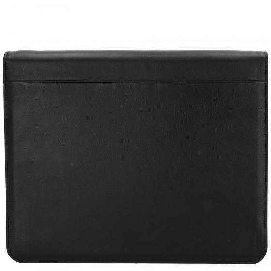 Schreibmappe A4 aus RindlederNappa 36 cm schwarz