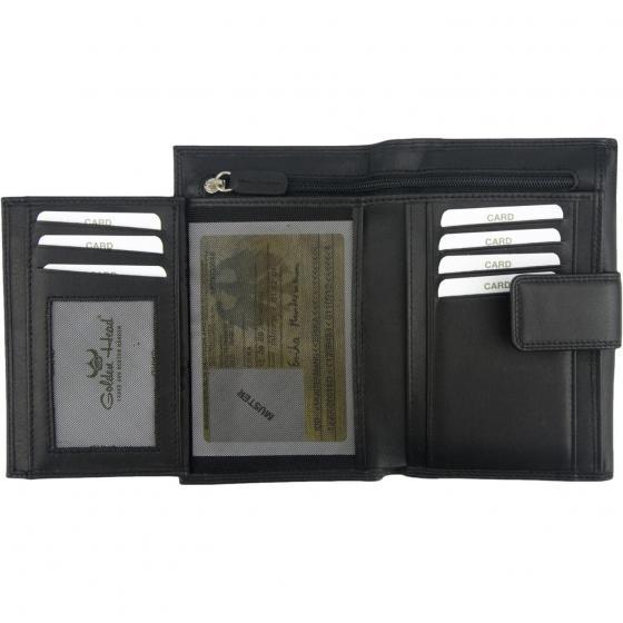 Polo Damenbörse 15 cm schwarz