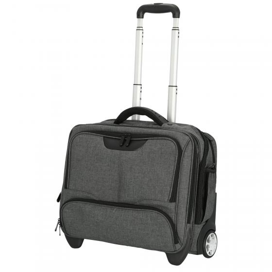 2-Rollen-Businesstrolley Canvas 44,5 cm grau