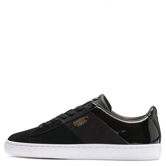 Women Basket Remix Sneaker Schuh 369956 40 1/2 | puma black/puma Team gold