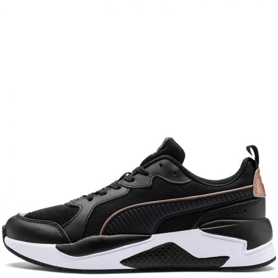 Women X-Ray Metallic Sneaker Schuh 373072 38 1/2 | Puma Black-Rose Gold-Puma White