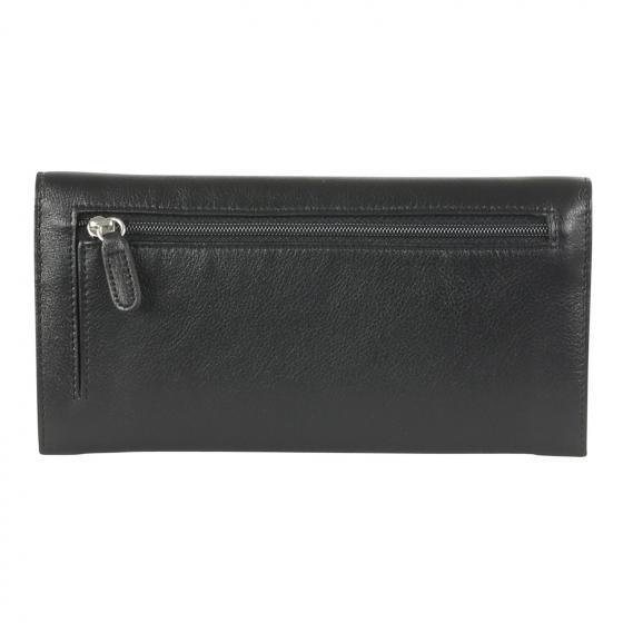 Bingo Geldbörse Damen Leder 19,5 cm schwarz