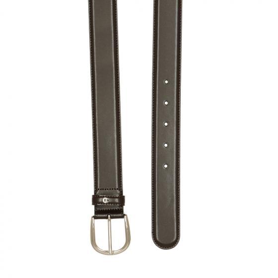 Men Daily Basis Ledergürtel mit Silberverschluß 3,5 cm 90   ebony
