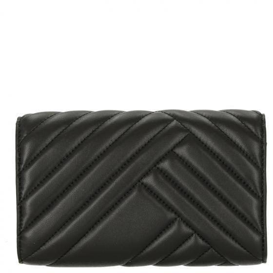 Nathalie gesteppte Clutch Leder 19.5 cm black