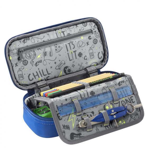 """PencilDenzel Schlamperetui """"OceanEmotion"""" 24 cm Blue Bay"""