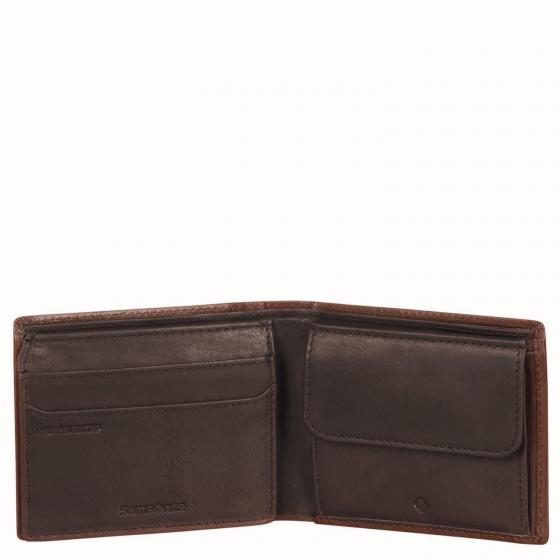 Oleo SLG Geldbörse mit Sichtfenster 10 cm RFID dark brown