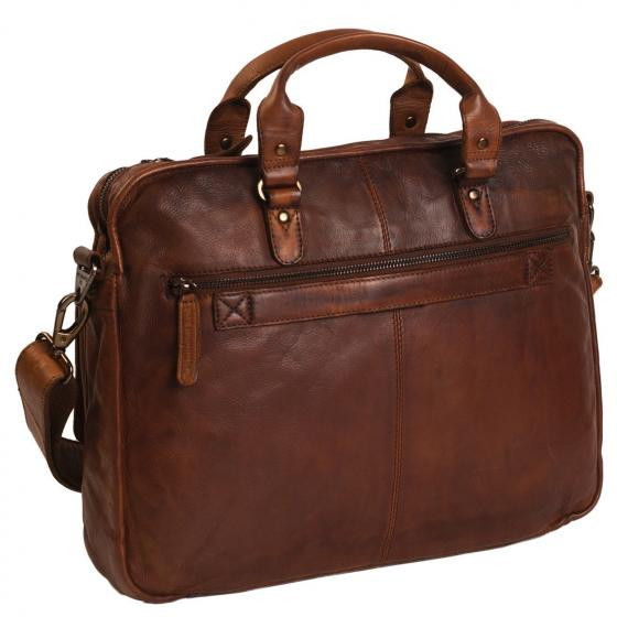 Black Label Rene Laptoptasche Leder 41 cm cognac