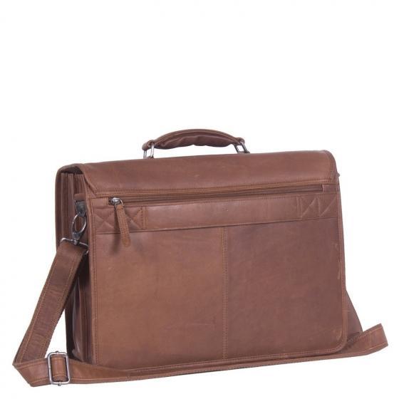 Shay Laptoptasche Leder 43 cm cognac