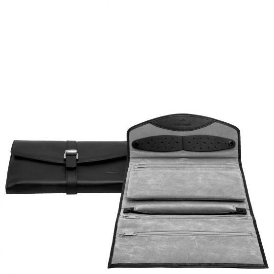Nappa Schmucktasche XL 23 cm schwarz