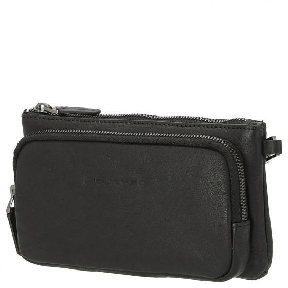 Black Square Handgelenkstasche für Smartphone mit Kreditkartenfach 20 cm black