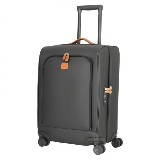 Firenze 4-Rollen-Kabinentrolley 55 cm black/tan