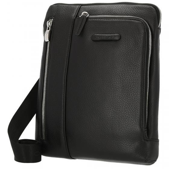 Modus Umhängetasche mit doppelter Vortasche 24.5 cm black