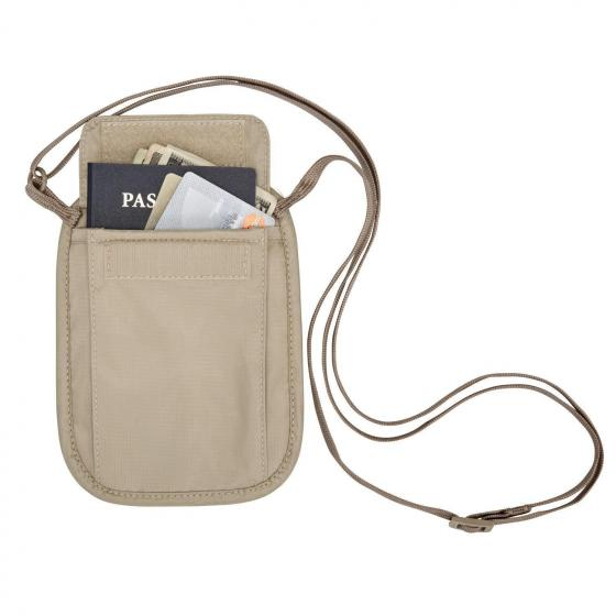 Reisezubehör (Travel Security) RFID Blocker Neck Wallet Brustbeutel 18 cm tan