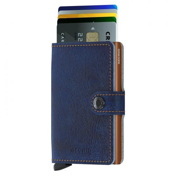 Indigo Miniwallet Geldbörse RFID 6.5 cm 5-titanium