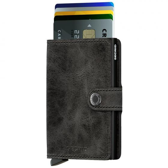 Vintage Miniwallet Geldbörse RFID 6.5 cm black
