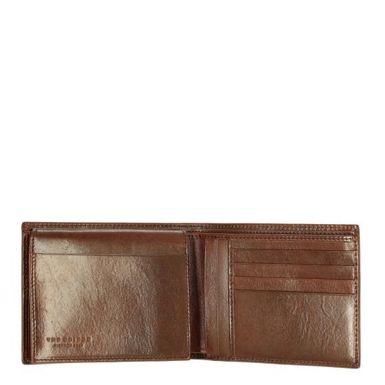 Story Uomo Kreditkartenbörse Leder 9 cm marrone