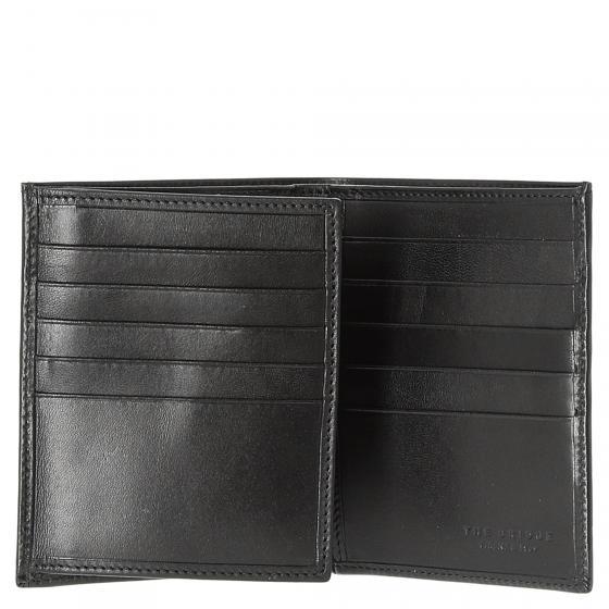 Story Uomo Kreditkartenetui / Geldbörse Rindleder 12.2 cm schwarz