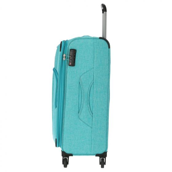Jakku 4-Rollen Trolley erw. M 67 cm turquoise