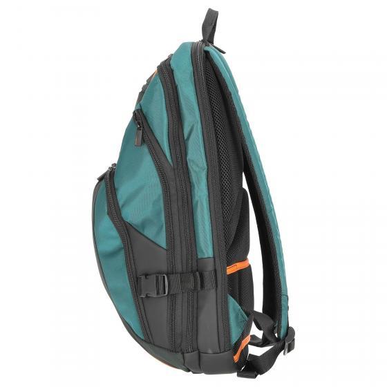 "Kleur Laptop Backpack Laptoprucksack 17.3"" 48 cm green/dark green"