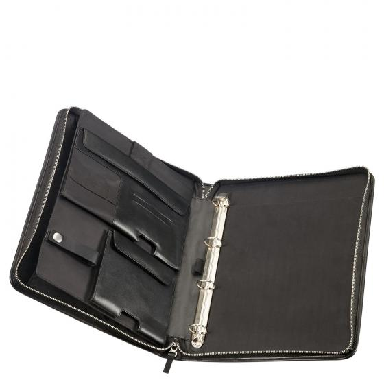Stationery Leather Zip Folder A4 Top+DET B 34.5 cm