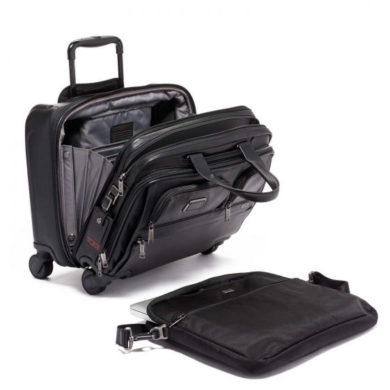 Alpha3 4-Rollen-Businesstrolley / Deluxe Laptop-Aktentasche 44.5 cm black